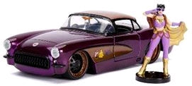 DC Bombshells - Batgirl 1957 Chevy Corvette 1:24 Scale Hollywood Rides Diecast Vehicle - Ozzie Collectables