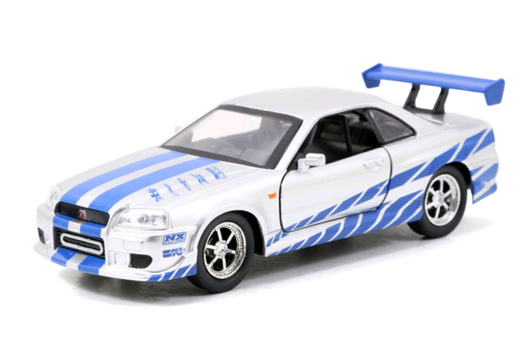 Fast & Furious - 2002 Nissan Skyline GTR R34 Silver 1:32 Scale Hollywood Ride