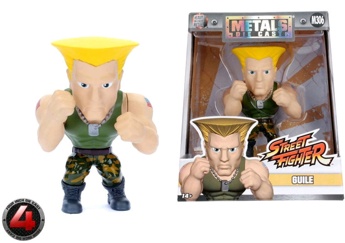 "Street Fighter - Guille 4"" Metals - Ozzie Collectables"