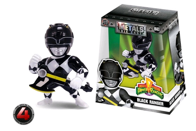 "Power Rangers - Black Ranger 4"" Metals - Ozzie Collectables"