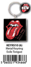 The Rolling Stones - KeyRing Tongue Exile On Main St - Ozzie Collectables