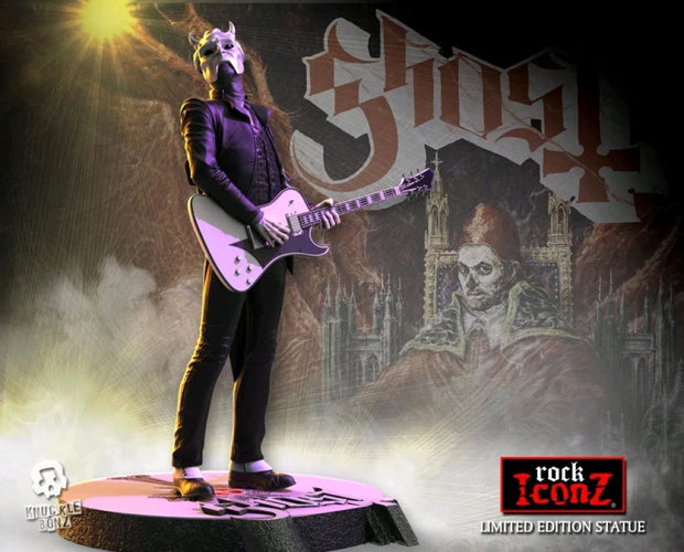 Ghost - Nameless Ghoul White Guitar Rock Iconz Statue