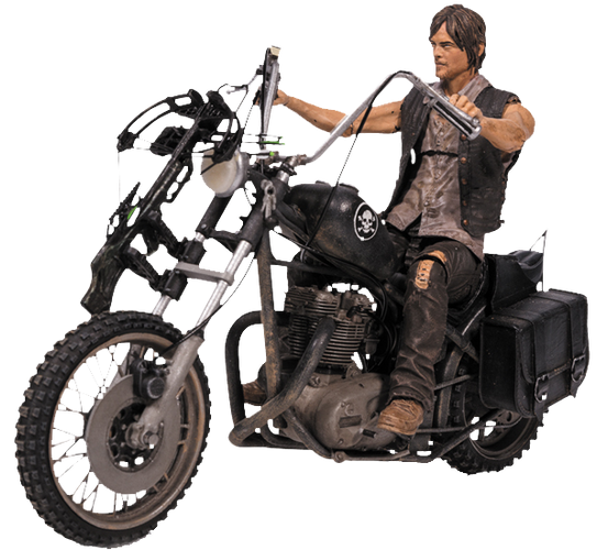 The Walking Dead - Daryl Dixon with Chopper Action Figure Set - Ozzie Collectables