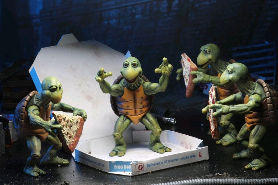 Teenage Mutant Ninja Turtles 1990 Baby Turtles 1 4 Scale Action Figure Set Ozzie Collectables