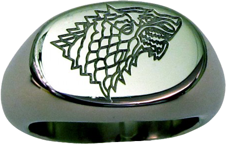 Game of Thrones - Stark Ring Size 10 - Ozzie Collectables
