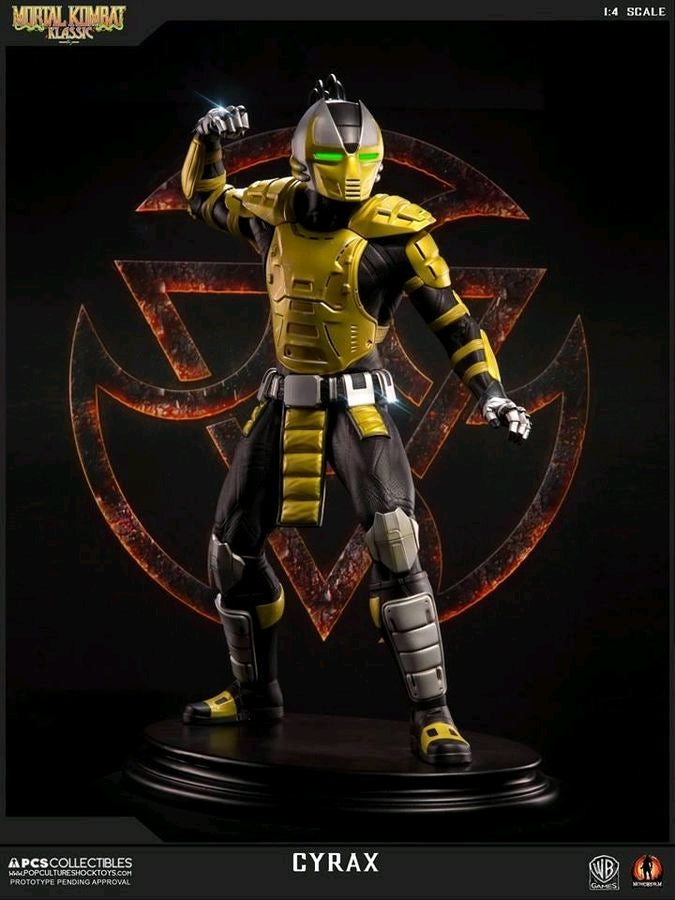 Mortal Kombat Klassic Cyrax 1 4 Scale Statue Ozzie Collectables Cyrax is a player character from the mortal kombat fighting game franchise created for midway games by ed boon and john tobias. mortal kombat klassic cyrax 1 4 scale statue