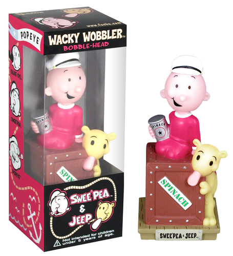 Popeye - Swee'Pea & Jeep Wacky Wobbler - Ozzie Collectables