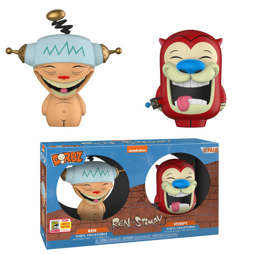 Ren and Stimpy - Happy Happy Joy Joy 2-Pack Dorbz 2018 Funko Store Sticker San Diego Summer Convention Exclusive - Ozzie Collectables