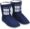 Doctor Who - TARDIS Boot Slipper Ladies Size 11 - Ozzie Collectables