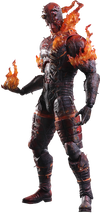 Metal Gear Solid V - Man on Fire Play Arts Action Figure - Ozzie Collectables