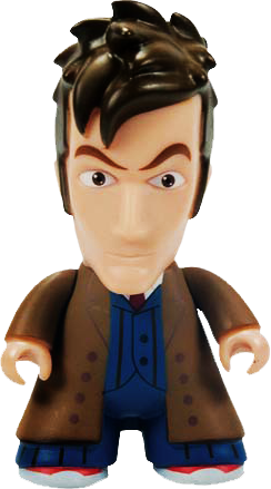 "Doctor Who - Tenth Doctor (Trenchcoat) Titans 6.5"" Vinyl Figure - Ozzie Collectables"