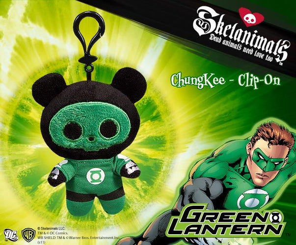"Skelanimals - Green Lantern Chungkee 4"" Clip-On Pl - Ozzie Collectables"