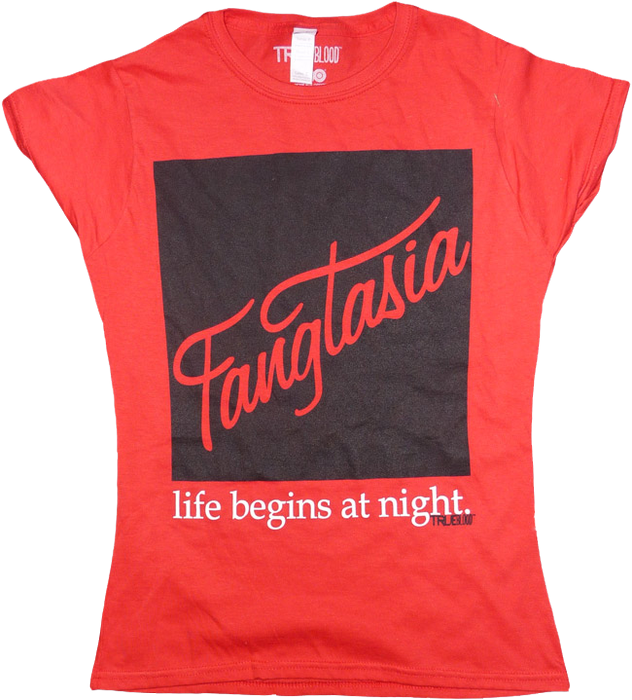 True Blood - Fangtasia Red Female T-Shirt S on Ozzie Collectables