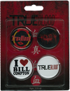 True Blood - Pin Set Of 4 (#1) - Ozzie Collectables