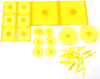 Dungeons & Dragons - Attack Wing Base & Pegs Set Yellow - Ozzie Collectables