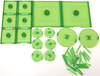 Dungeons & Dragons - Attack Wing Base & Pegs Set Green - Ozzie Collectables
