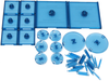 Dungeons & Dragons - Attack Wing Base & Pegs Set Blue - Ozzie Collectables