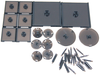 Dungeons & Dragons - Attack Wing Base & Pegs Set Black - Ozzie Collectables