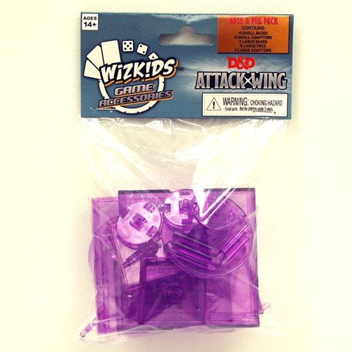 Dungeons & Dragons - Attack Wing Base & Pegs Set Purple - Ozzie Collectables