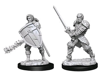 Dungeons & Dragons - Nolzur's Marvelous Unpainted Minis: Male Human Fighter - Ozzie Collectables