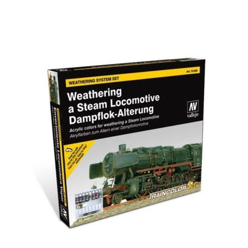 Vallejo Model Colour Box Set Weathering a Steam Locomotive