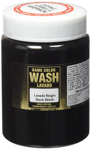Vallejo Game Colour Black Wash 200ml - Ozzie Collectables