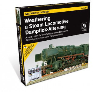 Vallejo Model Colour Box Set Weathering a Steam Locomotive - Ozzie Collectables