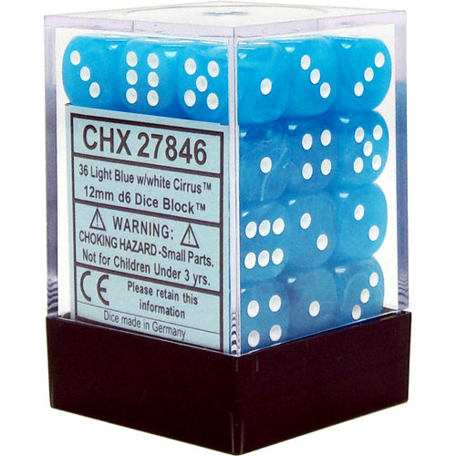 CHX 27846 Cirrus 12mm d6 Light Blue/White Block (36)