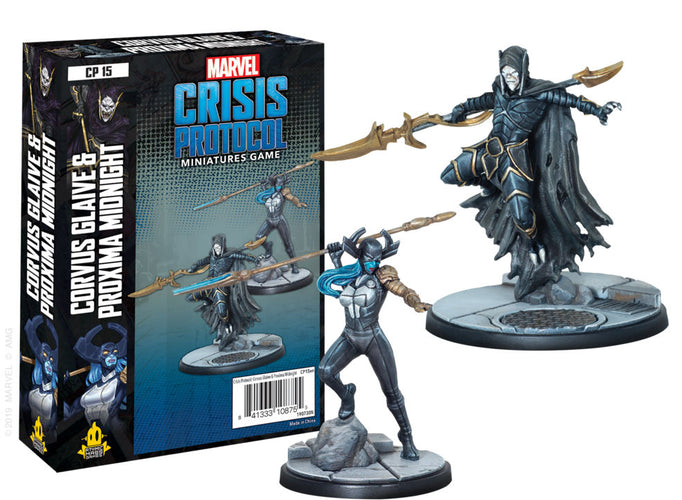 Marvel Crisis Protocol Miniatures Game Corvus Glaive and Proxima Midnight Expansion - Ozzie Collectables