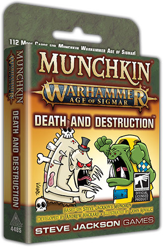 Munchkin Warhammer Age of Sigmar Death and Destruction - Ozzie Collectables