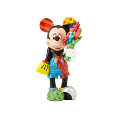Disney Britto Mickey Mouse with flower Figurine Large - Ozzie Collectables