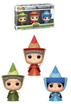 Sleeping Beauty - Fauna, Flora & Merryweather Fairies ECCC 2020 Exclusive Pop! Vinyl 3-pack - Ozzie Collectables