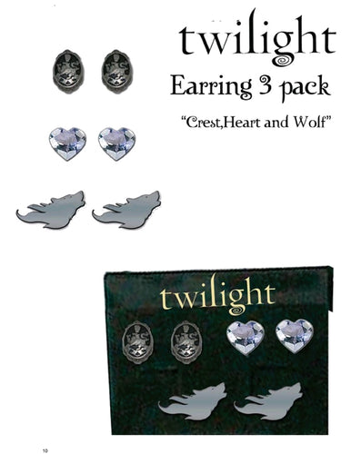 Twilight - Jewellery Earrings 3-Pack - Ozzie Collectables