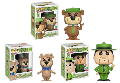 Yogi Bear, Boo Boo & Ranger Smith - Yogi Bear Animation POP! Vinyl Figures