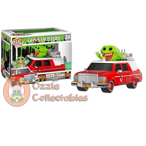 Ghostbusters (2016) - Ecto 1 Red SDCC 2016 US Exclusive Pop! Ride - Ozzie Collectables