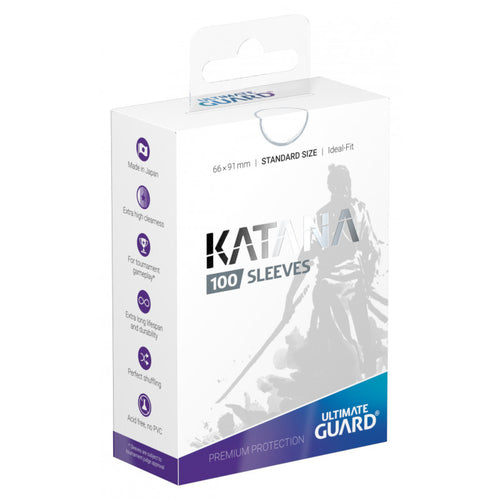 Ultimate Guard Katana Standard Size Sleeves White (100) - Ozzie Collectables