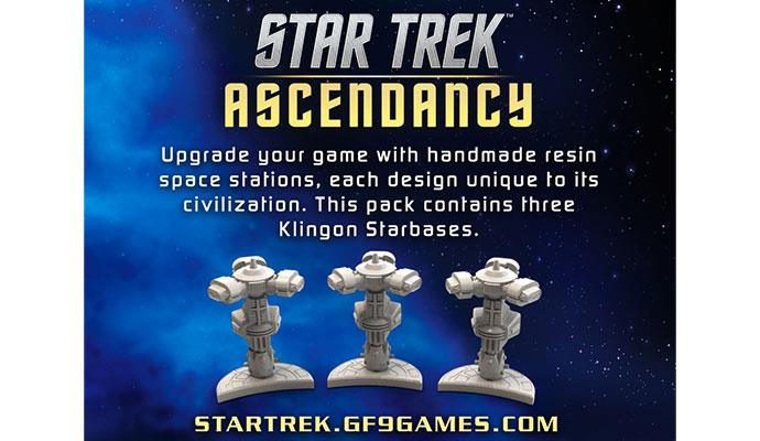 Star Trek Ascendancy Accessory Star Bases (3) Klingon - Ozzie Collectables