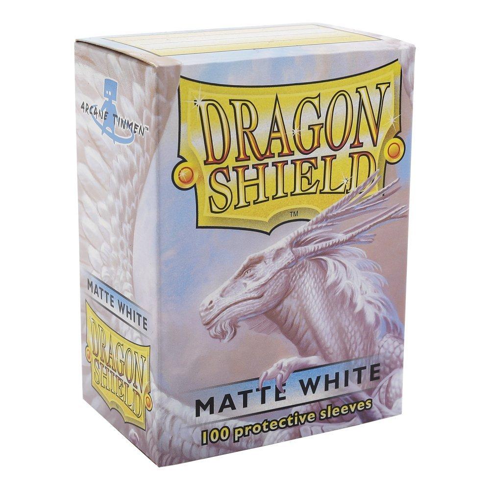 Sleeves - Dragon Shield - Box 100 - White MATTE - Ozzie Collectables