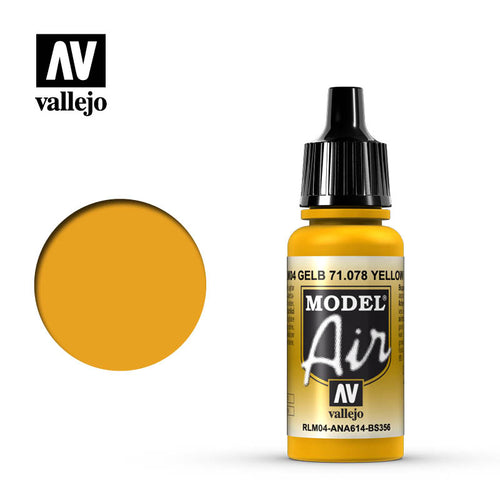 Vallejo Model Air Yellow RLM04 17 ml