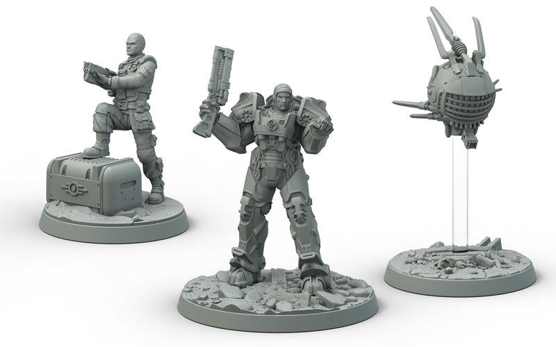 Fallout Wasteland Warfare Brotherhood of Steel Knight Captain Cade Paladin Danse - Ozzie Collectables