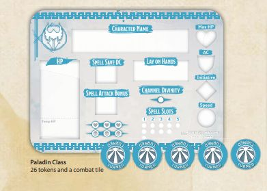 D&D Class Token Set Paladin - Ozzie Collectables
