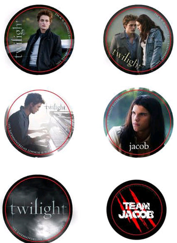 Twilight - Pin Set of 6 Style A Team Jacob - Ozzie Collectables