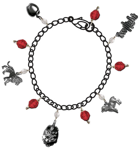Twilight - Jewellery Charm Bracelet Red Jewel - Ozzie Collectables