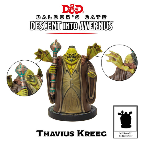 D&D Collectors Series Miniatures Baldurs Gate Descent into Avernus Thavius Kreeg - Ozzie Collectables