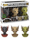 Game of Thrones - Drogon, Rhaegal and Viserion in Eggs ECCC 2020 Exclusive 3-pack Pop! Vinyl - Ozzie Collectables