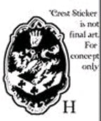 Twilight - Sticker H Cullen Crest - Ozzie Collectables