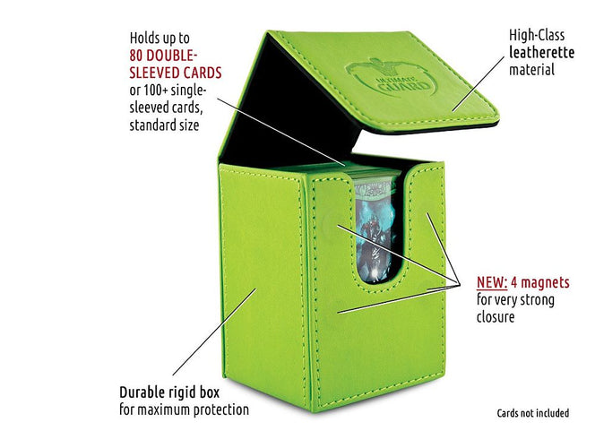 Ultimate Guard Flip Deck Case 80+ Standard Size Green Deck Box - Ozzie Collectables