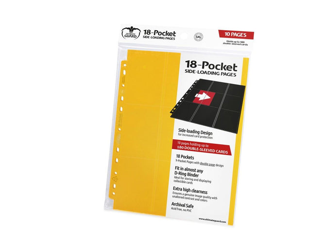 Ultimate Guard 18-Pocket Pages Side-Loading Yellow Folder - Ozzie Collectables