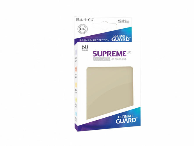 Ultimate Guard Supreme UX Sleeves Japanese Size Sand (60) - Ozzie Collectables