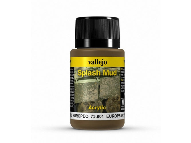 Vallejo Weathering Effects European Splash Mud 40 ml - Ozzie Collectables